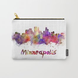 Minneapolis skyline in watercolor Carry-All Pouch