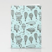 hot air balloons Stationery Cards featuring Hot Air Balloons by Matt Andrews