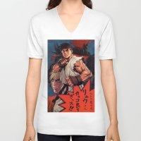 manga V-neck T-shirts featuring Manga 02 by Zuno