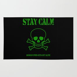 Stay Calm Pirate Flag Rug