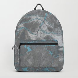 Blue and Gray Marble Backpack