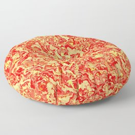 Magma Red And Gold Marble Pattern Floor Pillow