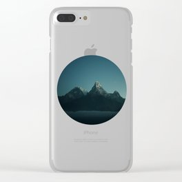 Magic Mountains Against Night Sky Clear iPhone Case