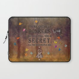 Wonderland Forest - Bonkers Quote Laptop Sleeve