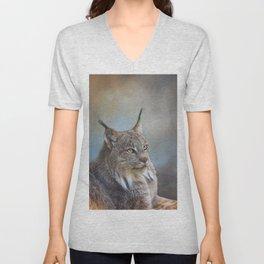Lynx Portrait Unisex V-Neck