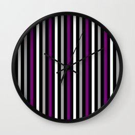 Asexual Pride Vertical Stripes Wall Clock
