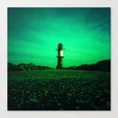 GREEN LIGHTHOUSE Canvas Print