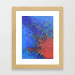 Splattered Peacock (3) Framed Art Print