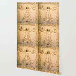 Vitruvian Man by Leonardo da Vinci Wallpaper