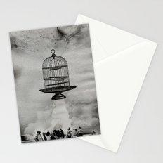 spaceship jail Stationery Cards