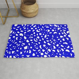 Electric Blue Abstract Rug