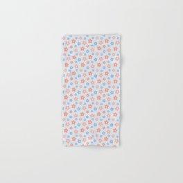 Blue Pink Flower Pattern Hand & Bath Towel