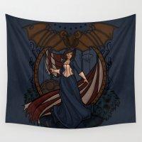 bioshock Wall Tapestries featuring Elizabeth Nouveau by Karen Hallion Illustrations