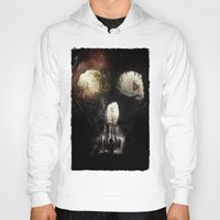 nick cave Hoodies featuring Cave Skull by Ali GULEC