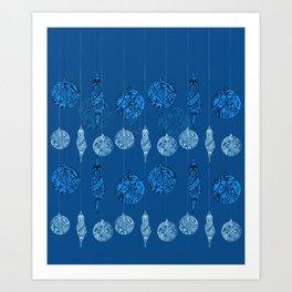 Ornamental xmas balls Art Print