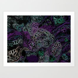 Poisoned land Art Print
