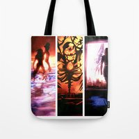 mass effect Tote Bags featuring Mass Effect by Vaahlkult