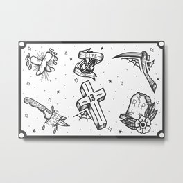 Halloween Flash Sheet Metal Print