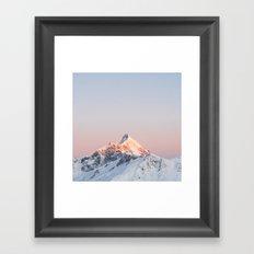 Mt Aspiring - square Framed Art Print