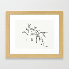 TUMBLR FEET with flowers Framed Art Print