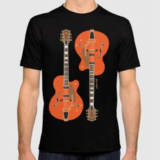 Chet's Guitar Mens Fitted Tee Black MEDIUM