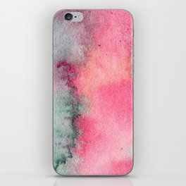 Blue and Pink Marble Watercolor iPhone Skin