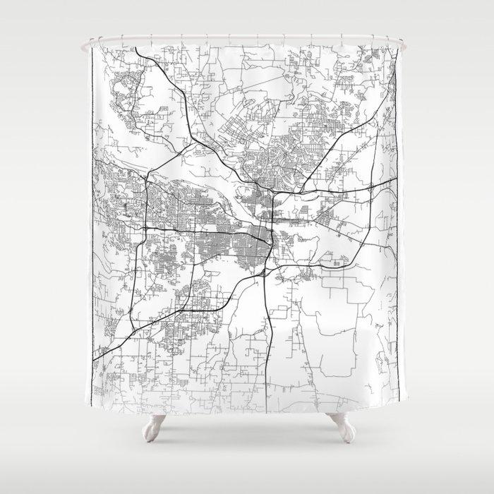 Minimal City Maps - Map Of Little Rock, Arkansas, United States Shower  Curtain by valsymot