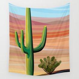 Saguaro Cactus in Desert Wall Tapestry