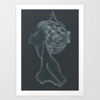 nurse Art Prints featuring Nurse by Zdenka Koskova