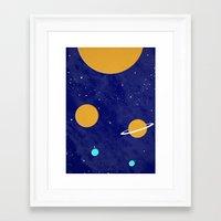 solar system Framed Art Prints featuring Solar System by Quinn Shipton