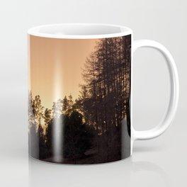 sunset silhouette trees Coffee Mug