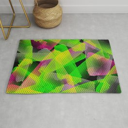 I Don't Do Normal - Abstract Print Rug