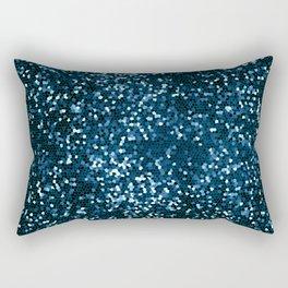 Blue Geometric Abstraction Rectangular Pillow