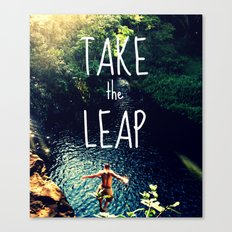 TAKE THE LEAP  Canvas Print