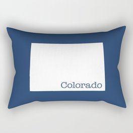 Colorado State in 2020 Navy blue Rectangular Pillow