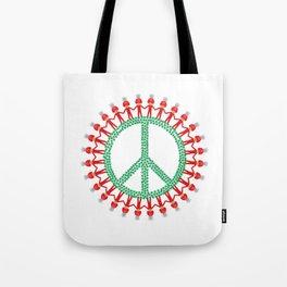 Peace Weed Mushroom Tote Bag