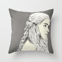 daenerys Throw Pillows featuring D T by CranioDsgn
