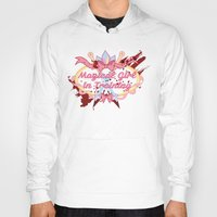 magical girl Hoodies featuring Magical Girl In Training by CassidyStone