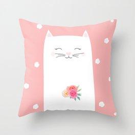 cat bride Throw Pillow