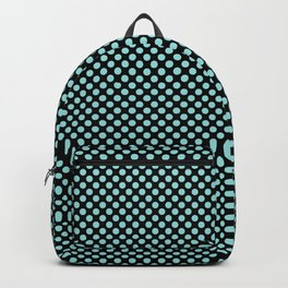 Black and Limpet Shell Polka Dots Backpack
