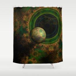 TikTok's Four-Dimensional Steampunk Time Contraption Shower Curtain