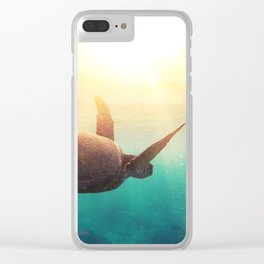 Sea Turtle - Underwater Nature Photography Clear iPhone Case