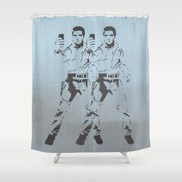 Elvis Double Selfie Shower Curtain