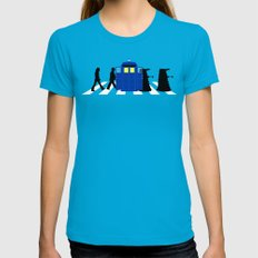 Abbey road daleks MEDIUM Teal Womens Fitted Tee