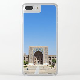 Panoramic view of Registan square - Samarkand Clear iPhone Case