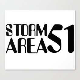Storm Area 51 Canvas Print