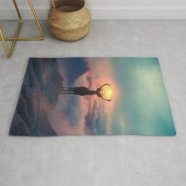 Morning glory Rug