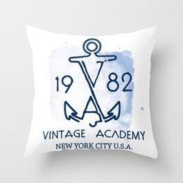 Vintage Academy Throw Pillow