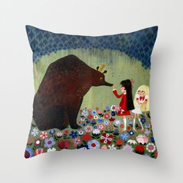 Rose Red and Snow White #1 Throw Pillow