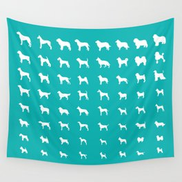 All Dogs (Aqua) Wall Tapestry